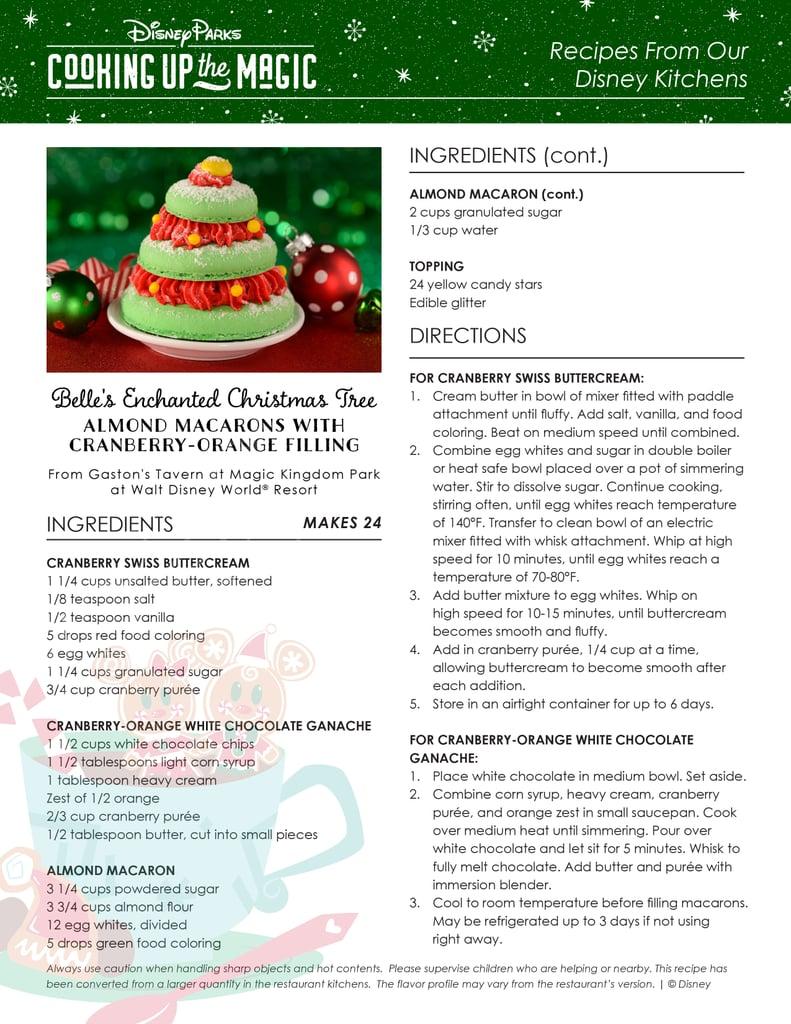 Belle's Enchanted Christmas Tree Recipe