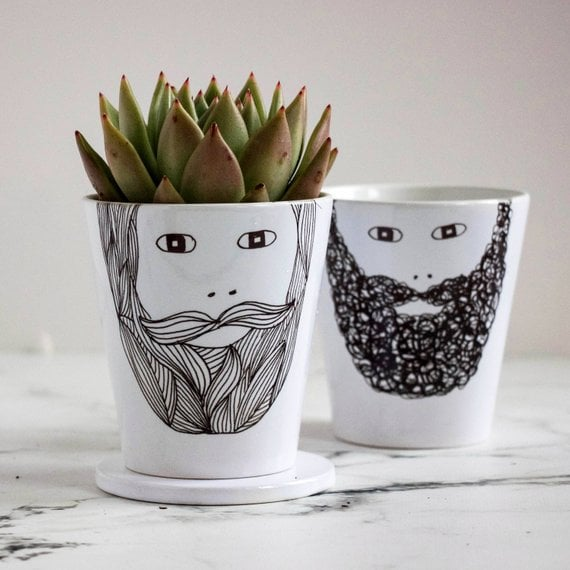 Beardy Man Plant Pot