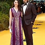 Pictured: Seth Rogen and Lauren Miller at The Lion King premiere in London.