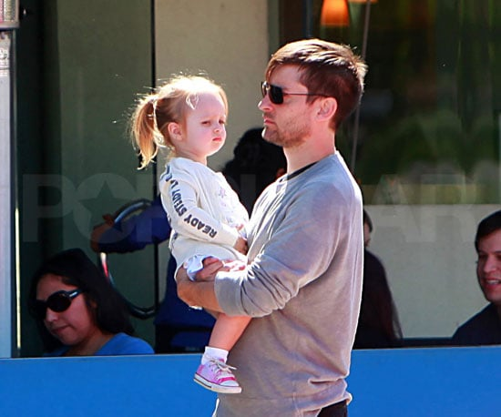 Photo of Tobey Maguire and Ruby Maguire at Lunch in LA