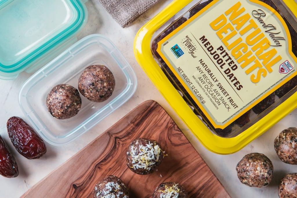 Rose Grant's Medjool Date, Blueberry, Lemon, and Hemp Seed Energy Balls