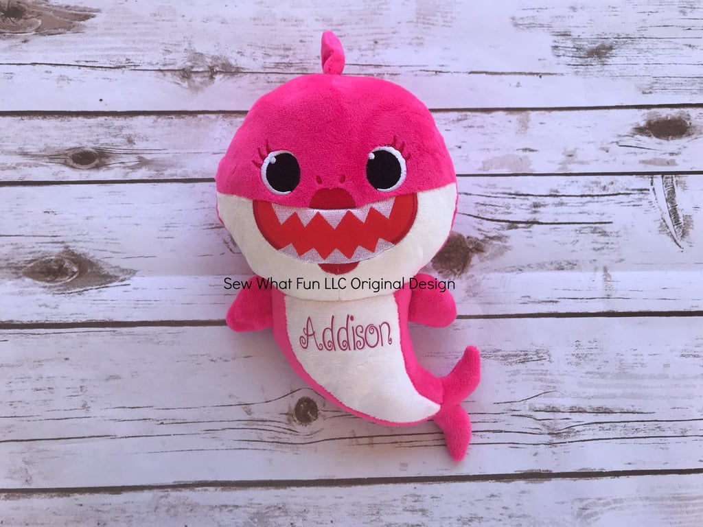 Personalized Baby Stuffed Animals, Personalized Baby Shark Plush Dolls From Etsy Popsugar Family