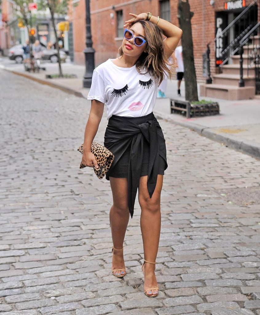 White t shirt fashion tips - Dress Up A Graphic T Shirt Fashion Tips And Resolutions Popsugar Fashion Photo 24