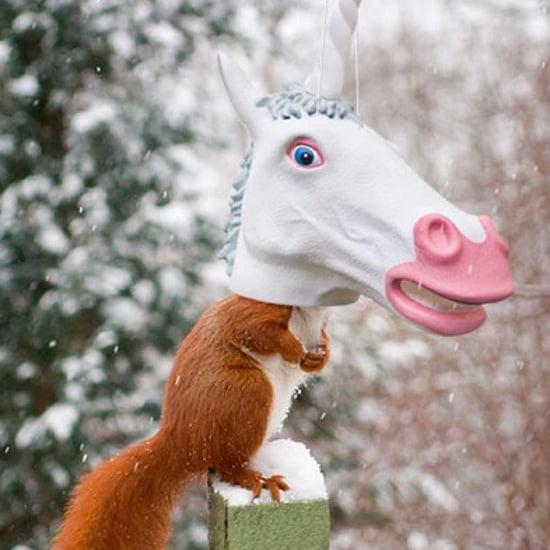 Unicorn Squirrel Feeder on Amazon