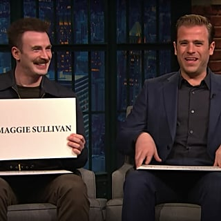 Chris and Scott Evans on Late Night With Seth Meyers 2018