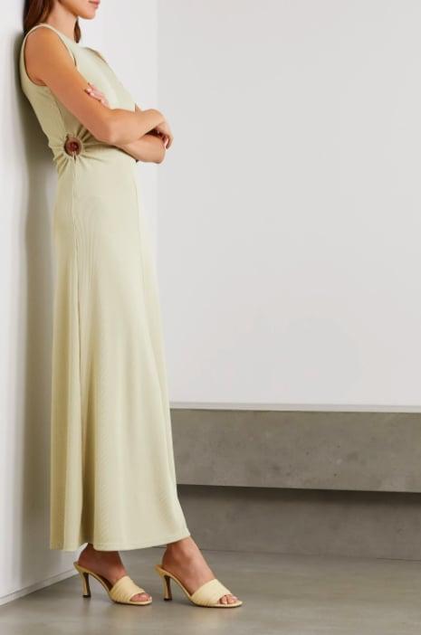 Christopher Esber Orbit Fran Embellished Cutout Ribbed-Knit Maxi Dress ($1,098.79)