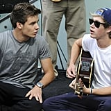 Liam Payne and Niall Horan Performing at Westfield's Shepherds Bush in 2012
