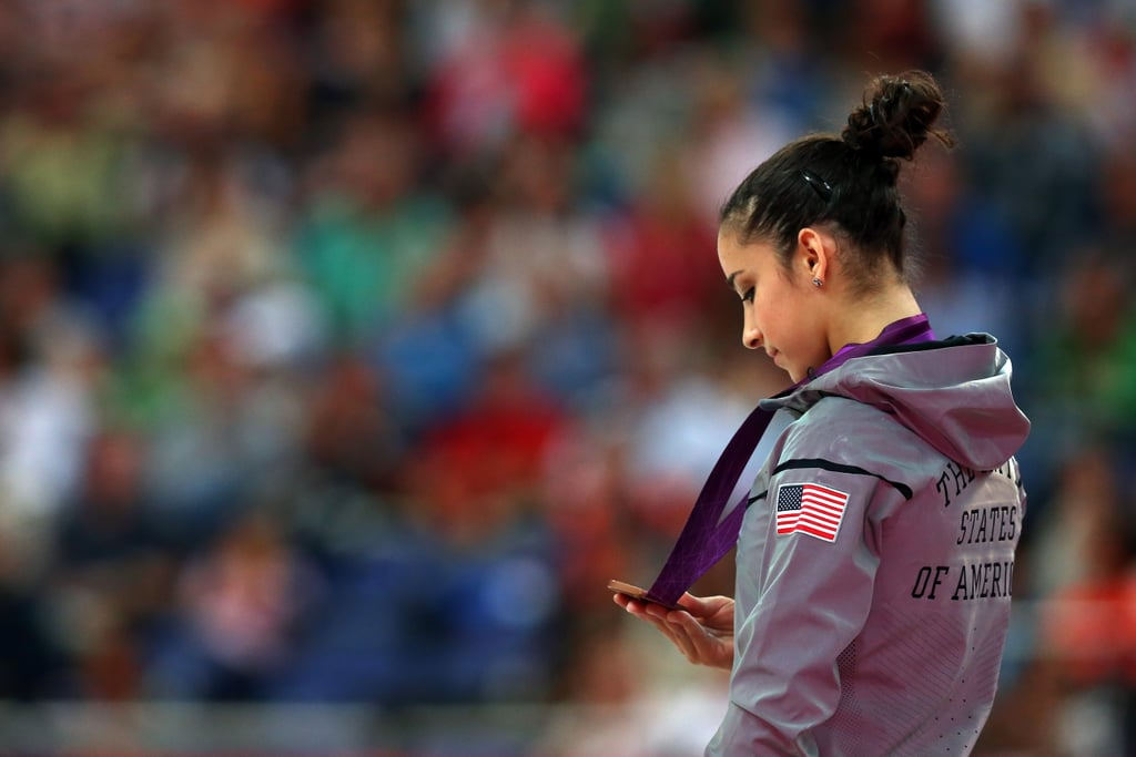 Aly Raisman had a moment of reflection after winning gold in the women's individual floor exercise. She also took bronze in the beam!
