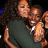 When She Got a Bear Hug From Queen Oprah Winfrey