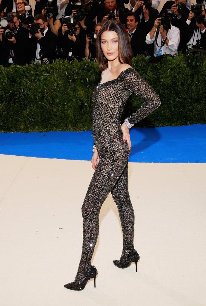 Bella Hadid Arrived to the Met Ball in a Sheer Alexander Wang Jumpsuit