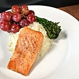 Salmon and Rice at Cafe Orleans