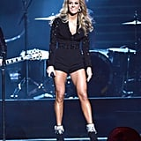 Carrie Underwood performed on stage.