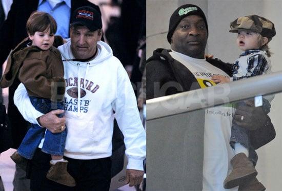 Photos of Jamie Spears With Jayden James Spears Federline and Sean Preston Spears Federline at Newark Airport