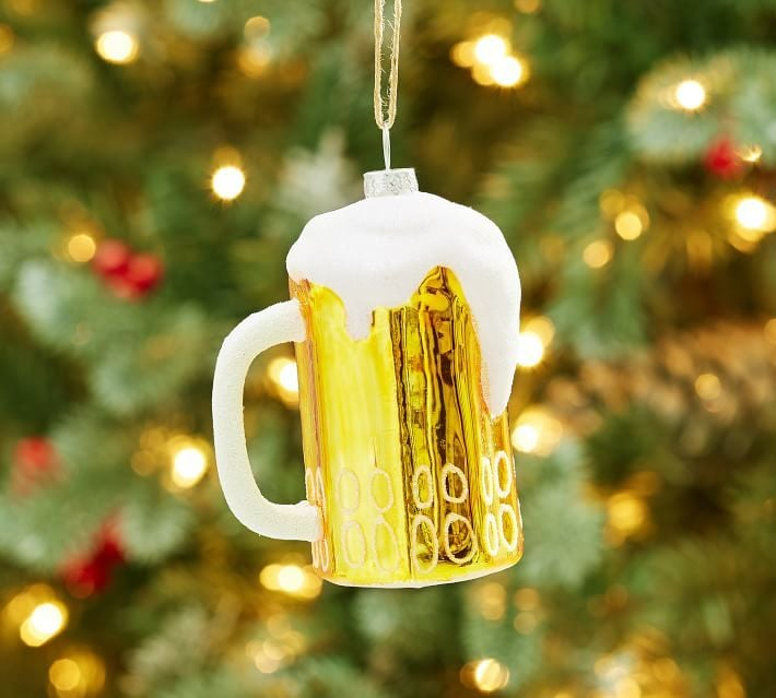 Foamy Beer Stein Ornament Food Themed Christmas Tree