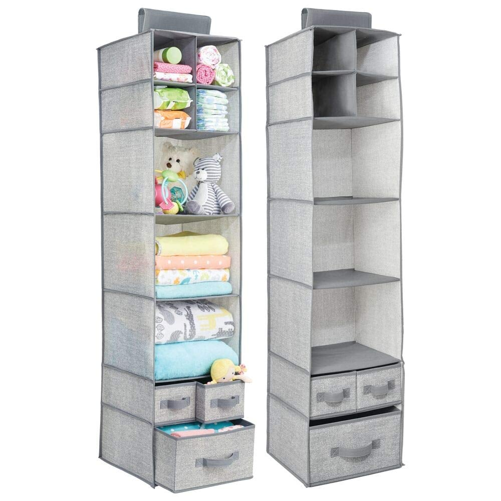 mDesign Soft Fabric Over Closet Rod Storage