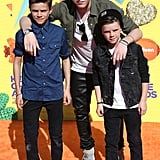 Brooklyn posed with his brothers on the Kids' Choice Awards red carpet in March 2015.