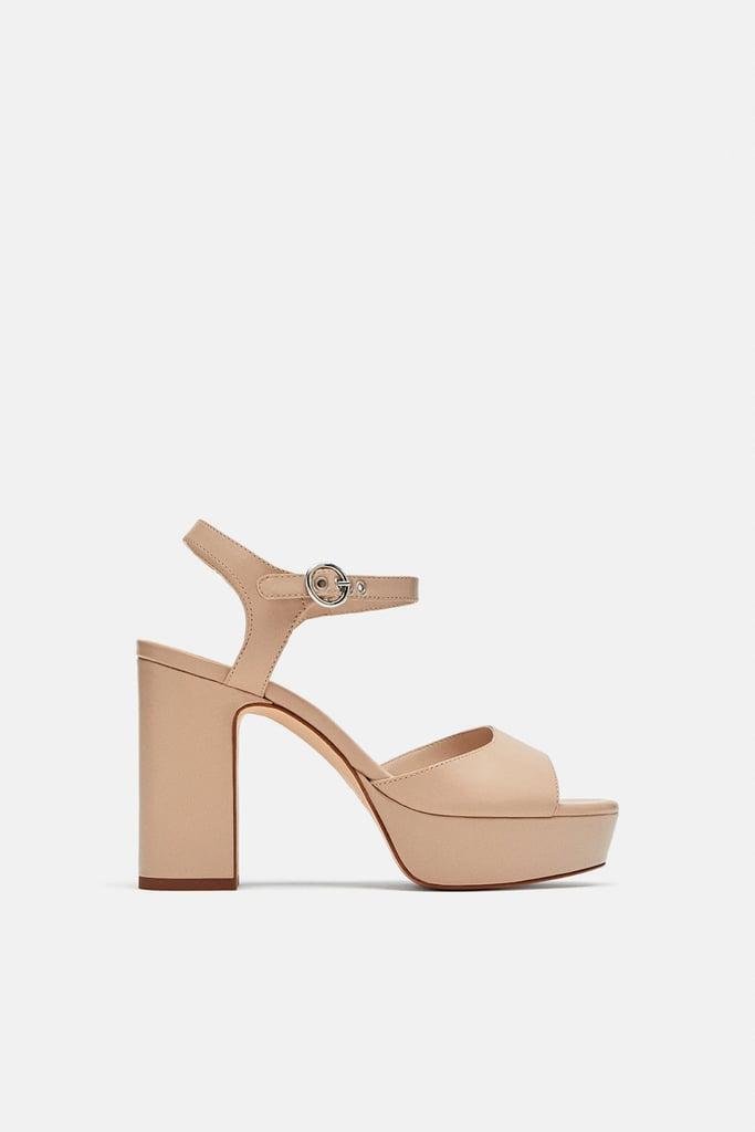 Zara High Heeled Platform Sandals