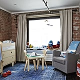 While having Sid precludes certain design choices — bye-bye to Jenny's dream of an all-white bedroom! — it provides new opportunities, such as decorating a nursery. We love how Sid's nursery is sophisticated enough for adults to enjoy spending time in while providing space for Sid to both play and sleep.