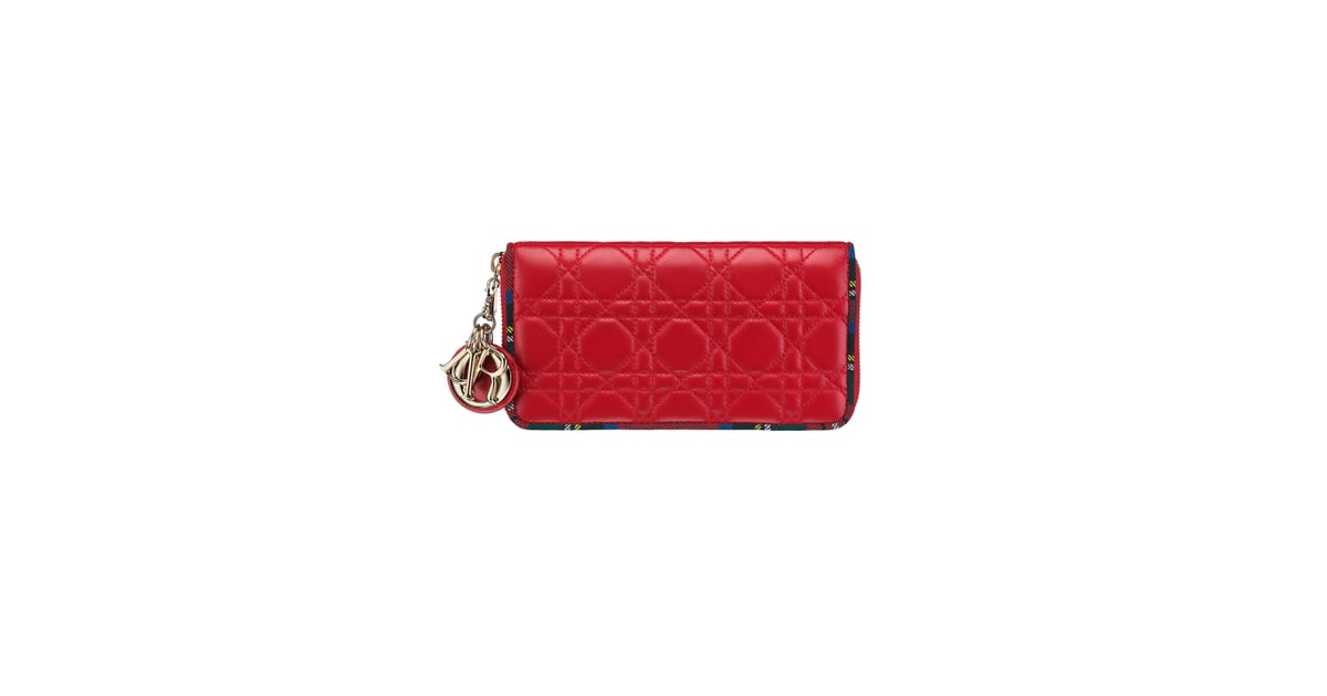 Lady Dior Zipped Pouch in Red Lambskin with Tartan Trim (£590 ... 09841c7448acd