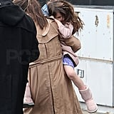 Katie Holmes Hits the NYC Shops Then Heads Out With Suri