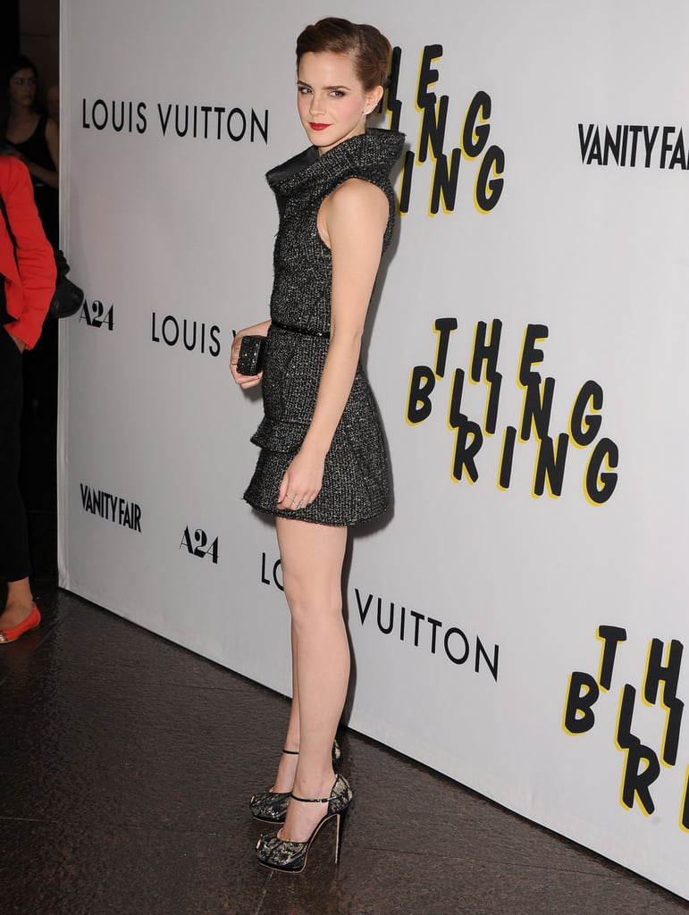 Emma Watson posed at the premiere of The Bling Ring in LA.