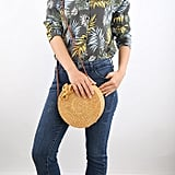 Handwoven Round Rattan Shoulder Bag