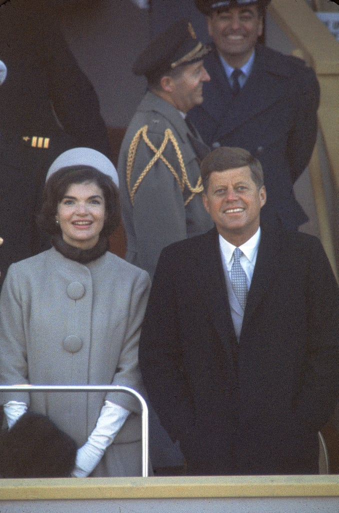 Many compared the '60s-inspired silhouette to the button-front design Jackie Kennedy wore for the 1961 inauguration.