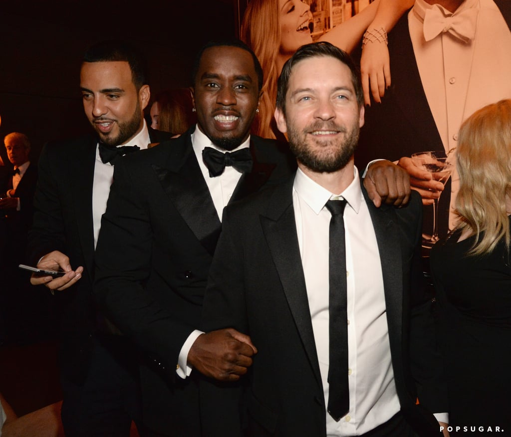 Pictured: Tobey Maguire and Sean Combs