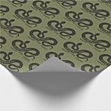 Harry Potter Slytherin Silhouette Typography Wrapping Paper