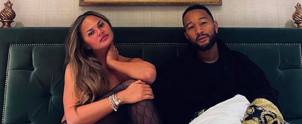 Chrissy Teigen Won't Stop Wearing Her Gucci Tights