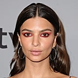 Emily Ratajkowski's Red Eye Shadow at the Golden Globes
