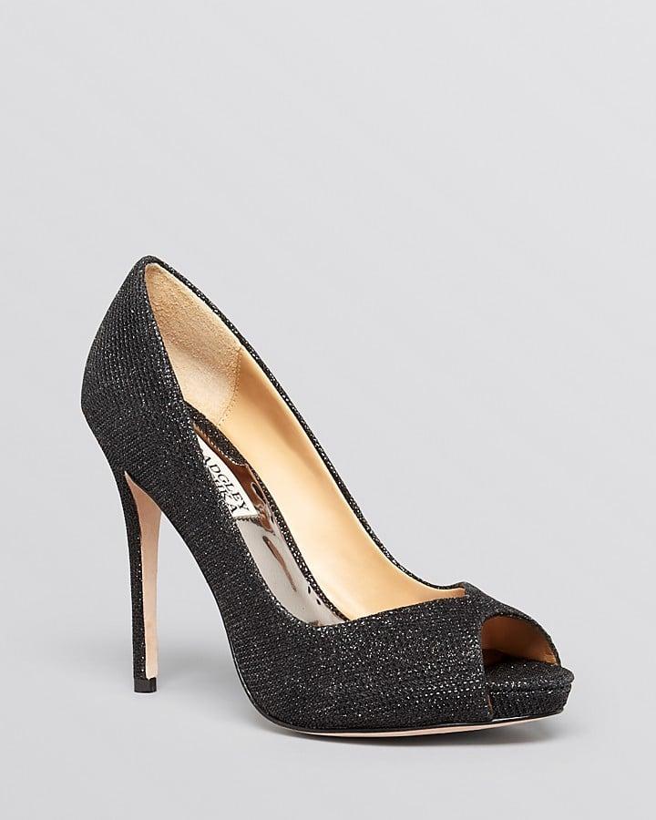 Badgley Mischka Peep Toe Kassidy II High Heel ($200)