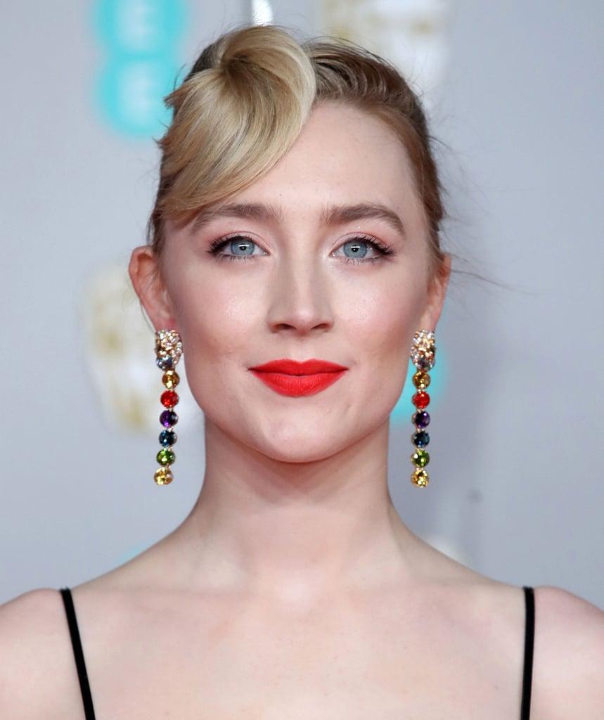 Saoirse Ronan's Cheerful Red Lip and Hair Flip at the 2020 BAFTAs
