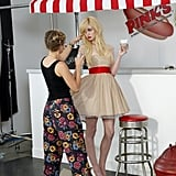 Allison received a touch-up during her photo shoot.  Photo courtesy of The CW