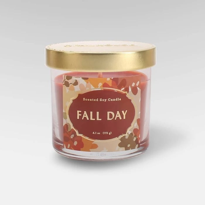 Fall Day Lidded Glass Jar Candle