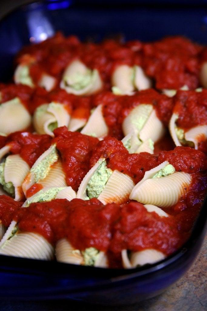 60-Calorie Vegan Stuffed Pasta Shells