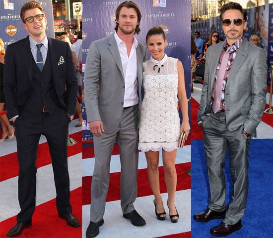 Chris Evans Has His Captain America and The Avengers Costars by His Side at His Big Premiere