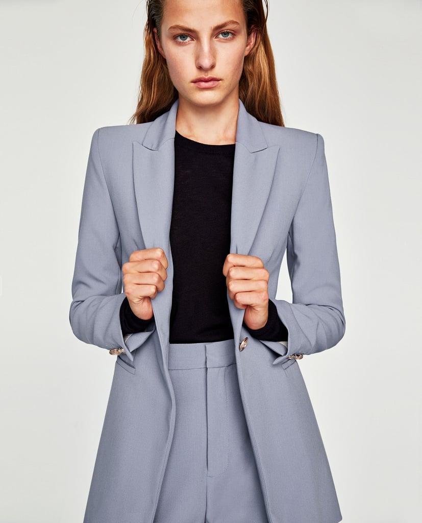 Zara Crepe Frock Coat