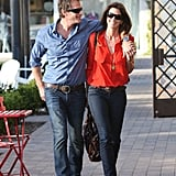 Cindy Crawford and Rande Gerber had a loved-up LA lunch date.