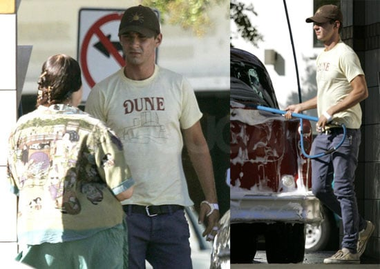 Photos of Shia LaBeouf Driving a Classic Car