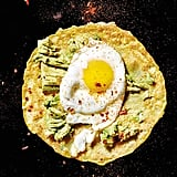 Gluten-Free Chickpea Crepes With Olive-Oil-Fried Egg and Smashed Avocado