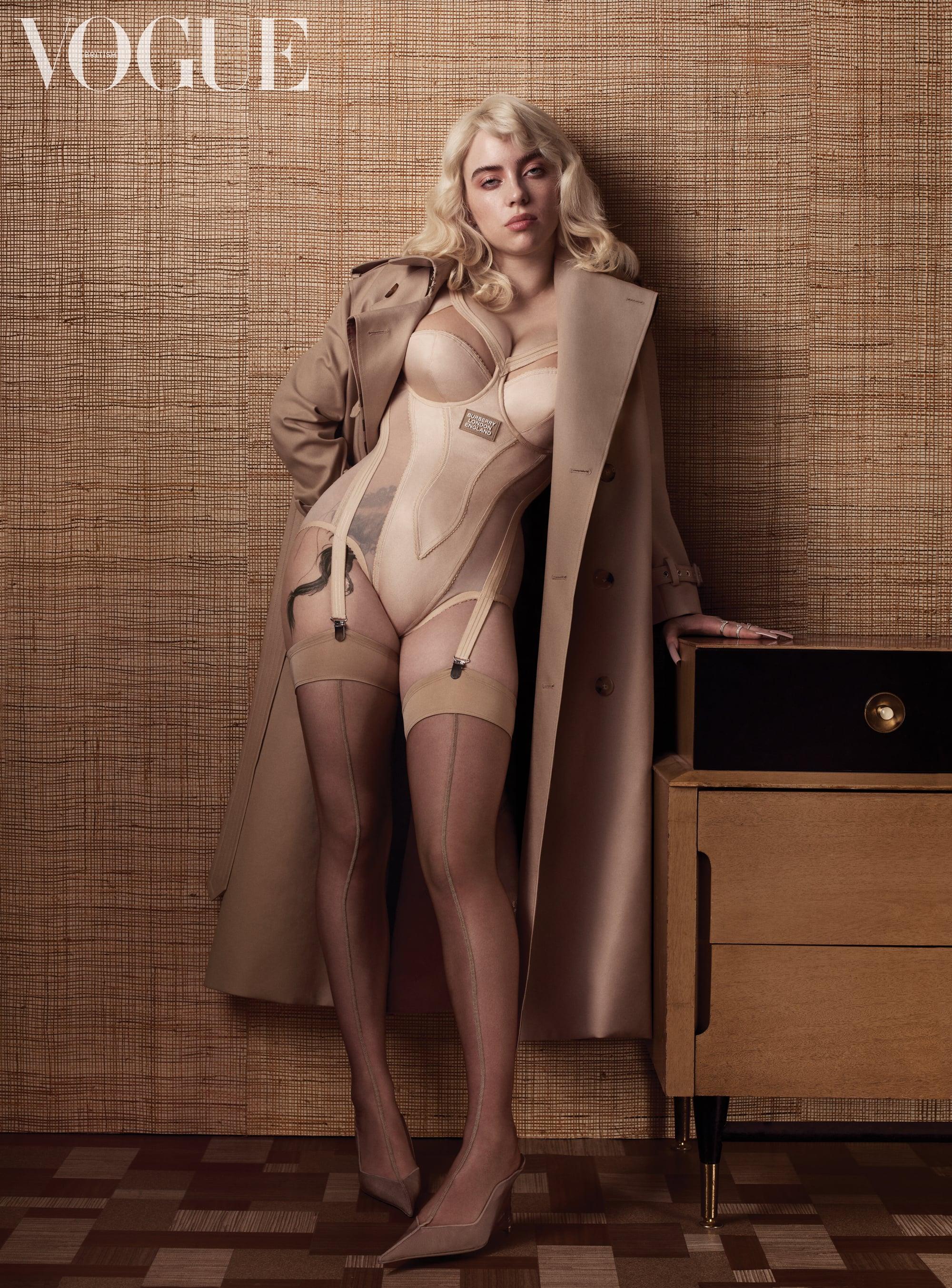Billie Eilish Debuts Leg Tattoo For British Vogue Shoot | POPSUGAR Beauty