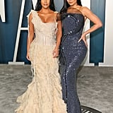 Kim Kardashian and Kylie Jenner at the Vanity Fair Oscars Party