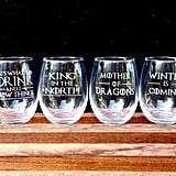 Game of Thrones Stemless Wine Glasses, $54.45