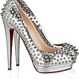 This ultimate statement shoe is worth the splurge.  Christian Louboutin Alti 160 Spiked Metallic Leather Pumps ($1,495)