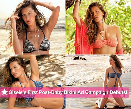 Pictures of Gisele Bundchen Modeling Bikinis For Calzedonia 2010-06-23 12:30:00