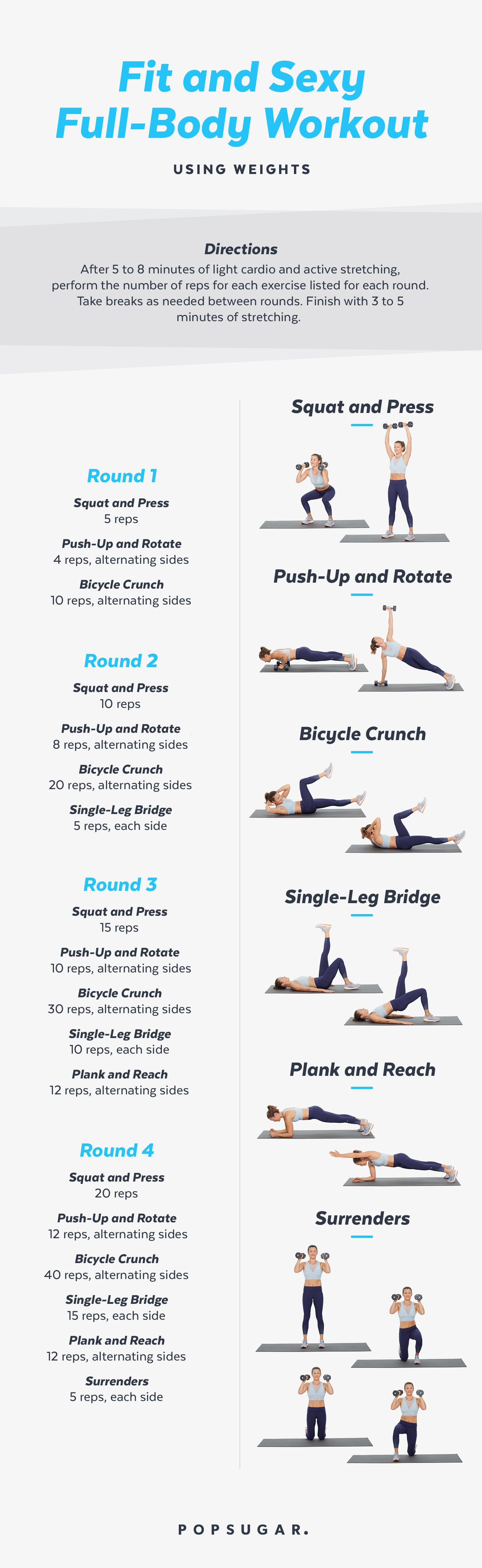 30-Minute Full-Body Workout With Weights | POPSUGAR Fitness