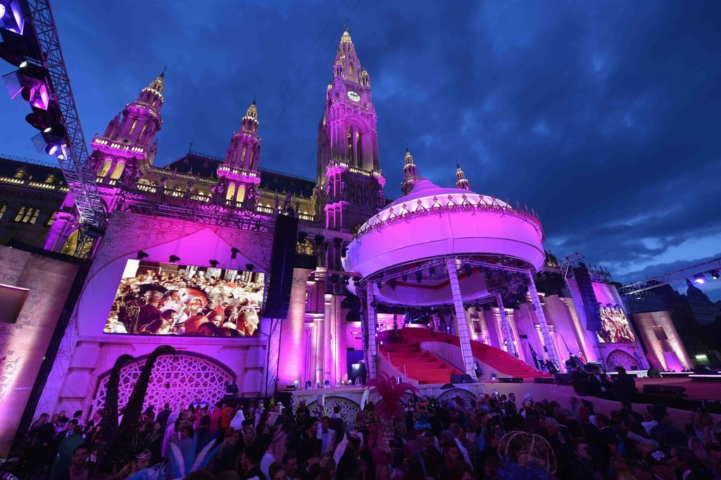 A view of the 2013 Life Ball in Vienna, Austria.  Photo courtesy of Roberto Cavalli