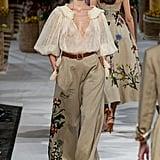 Puffy Sleeves on the Oscar de la Renta Runway at New York Fashion Week