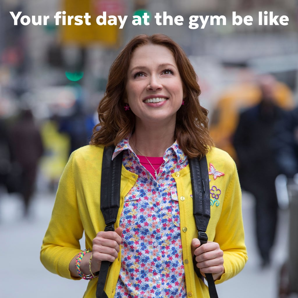 You signed up for a gym membership and are feeling great.